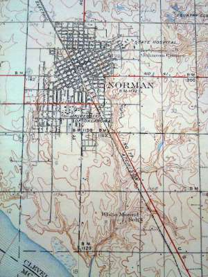 Oklahoma: Norman in maps picture 4